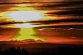 Картинка небо, облака, закат, горы, Испания, Каталония, Монсерат