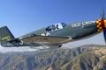 Картинка небо, полет, горы, самолет, истребитель, пилот, пропеллер