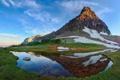 Картинка горы, озеро, отражение, Природа