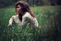 Картинка лето, трава, девушка