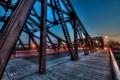 Картинка ночь, мост, город, chicago