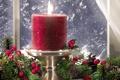 Картинка украшения, пламя, праздник, узор, свеча, лёд, ветка