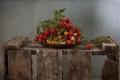 Картинка фон, ящик, помидоры