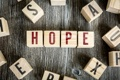 Картинка hope, letters, wood cubes