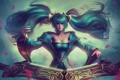 Картинка девушка, волосы, платья, League of Legends, Sona, Maven of the Strings