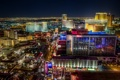 Картинка город, огни, дороги, Лас-Вегас, панорама, usa, отели