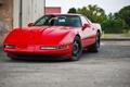 Картинка красный, corvette, шевроле, chevrolet, корвет, zr 1