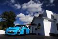 Картинка спорткар, голубой, порше, дом, суперкар, Blue, Riviera