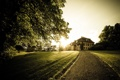 Картинка дорога, деревья, пейзаж, дом