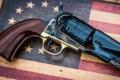 Картинка оружие, фон, ствол, револьвер, рукоять, курок