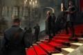 Картинка люди, дорожка, солдаты, ступени, форма, красная, дворец