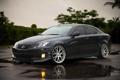 Картинка авто, отражение, дождь, мокрая, лужа, лексус, Lexus IS