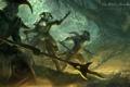Картинка лес, оружие, войны, арт, копье, броня, The Elder Scrolls Online