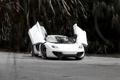 Картинка белый, отражение, McLaren, white, вид спереди, MP4-12C, лобовое стекло