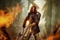 Картинка пожар, воин, арт, мужчина, топор, щит