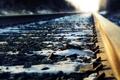 Картинка железная дорога, шпалы, макро
