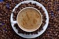 Картинка кофе, кофейные зерна, пенка, coffee, coffee beans