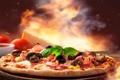 Картинка грибы, ветчина, pizza, mushrooms, сыр, пицца, ham