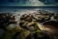 Картинка море, небо, облака, пейзаж, камни, берег