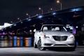 Картинка свет, машины, ночь, огни, фото, Chrysler, мосты
