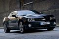 Картинка Chevrolet, передок, Шевроле, Камаро, чёрный, фон, Muscle car