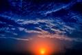 Картинка закат, облака, небо, вечер, солнце