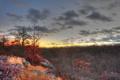 Картинка закат, камни, осень, горизонт, небо, облака, скалы