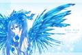 Картинка девушка, цветы, розы, крылья, арт, vocaloid, hatsune miku