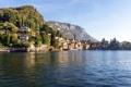 Картинка море, горы, дома, лодки, Италия, Lombardy, Griante
