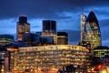 Картинка England, здания, ночной город, Лондон, Англия, London