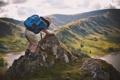 Картинка природа, ребенок, путешественник, рюкзак