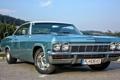 Картинка дорога, купе, Chevrolet, Шевроле, вид сбоку, 1965, Coupe