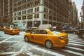 Картинка Manhattan, NYC, New York City, Street, roads, taxi, traffic