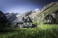 Картинка пейзаж, горы, дом