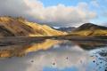 Картинка горы, озеро, Исландия