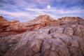 Картинка скалы, луна, каньон