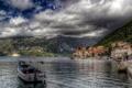 Картинка город, фото, побережье, HDR, катера, Черногория, Perast
