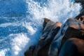 Картинка море, брызги, камни, скалы