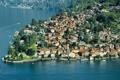 Картинка город, побережье, сверху, фото, Италия, Como