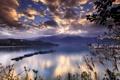 Картинка облака, корабли, вода, море, холмы