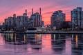 Картинка лед, зима, закат, огни, Нью-Йорк
