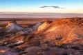 Картинка песок, закат, пустыня, холм, свет, солнце