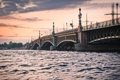 Картинка город, река, мост