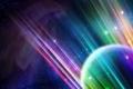 Картинка линии, rainbow, planet