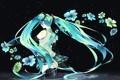 Картинка вода, девушка, цветы, спина, vocaloid, hatsune miku, длинные волосы