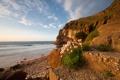 Картинка море, галька, камни, скалы, берег, Морской пейзаж