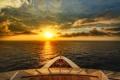 Картинка море, облака, восход