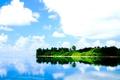 Картинка небо, пальмы, океан, берег