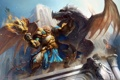 Картинка дракон, мужик, факел, Ether Saga Online