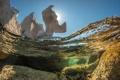 Картинка вода, природа, скала, океан, подводный мир